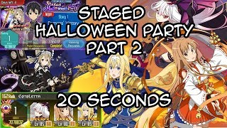 [SAO MD] 20 Sec - INSANELY UNLUCKY PULLS - Staged Halloween Party Part 2【メモデフ】
