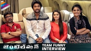 Nani Gentleman Team Funny Interview | Nani | Surabhi | Nivetha | #Gentleman | Telugu Filmnagar