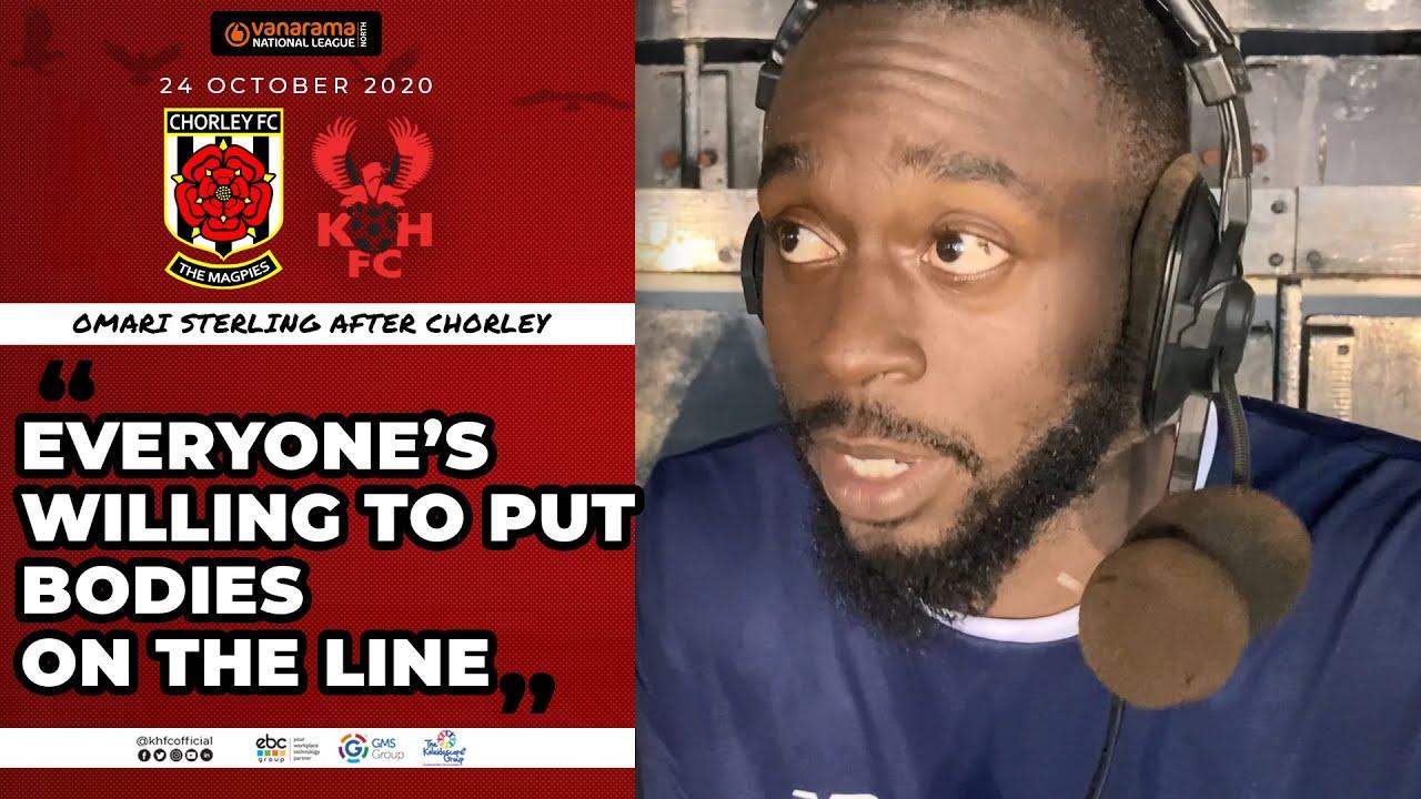 Omari Sterling 24/10/20: Chorley 0-2 Harriers post-match
