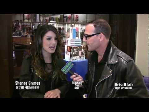 "90210's Shenae Grimes Talks Johnny Ramone ""Commando"" w/ Eric Blair in Los Angeles"