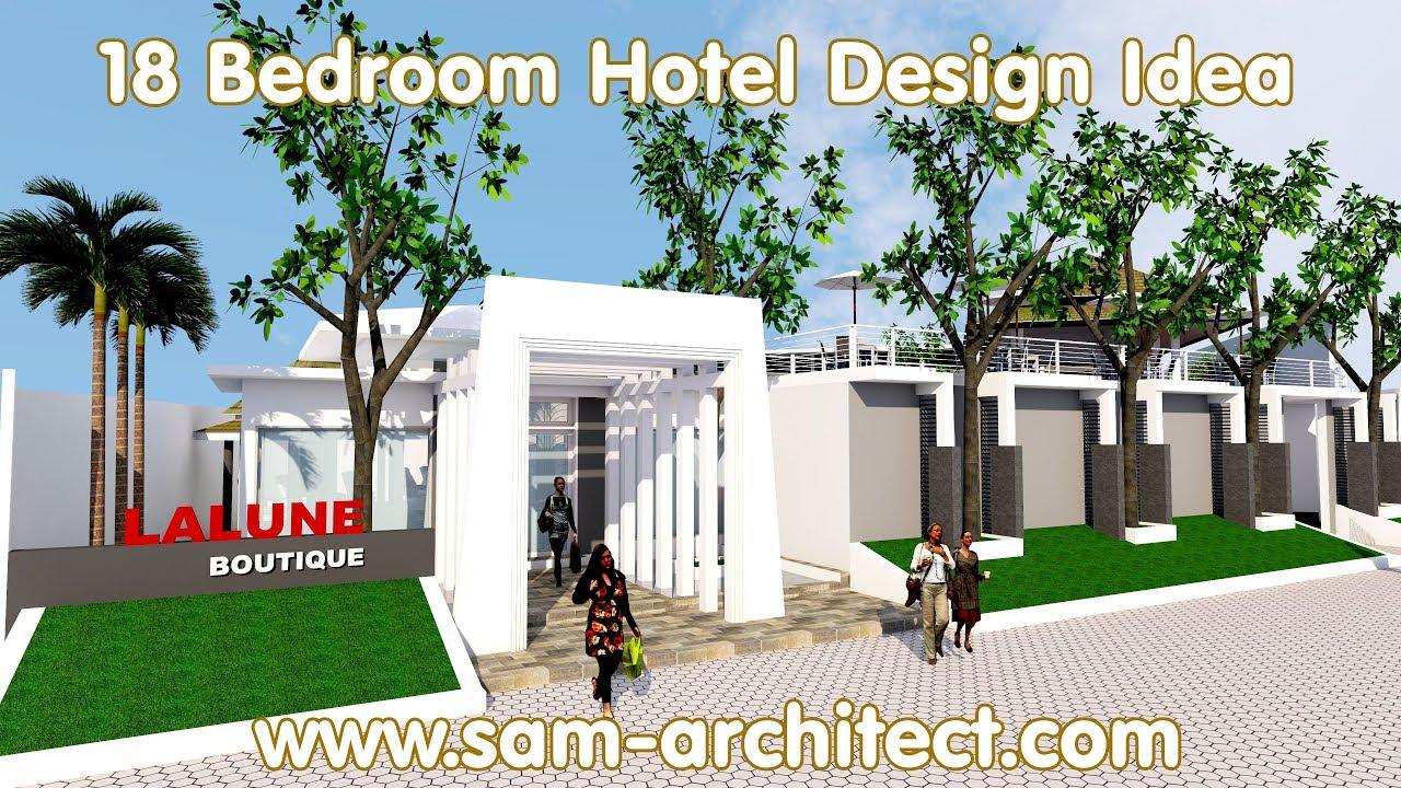 Sketchup boutique hotel design idea with 18 rooms samphoas for Design boutique hotel meran