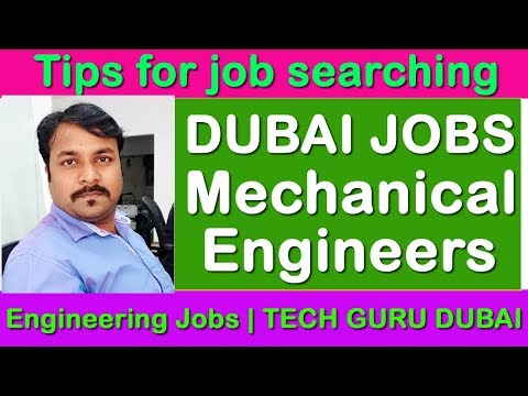 Dubai job for Mechanical Engineers | HINDI URDU | TECH GURU DUBAI