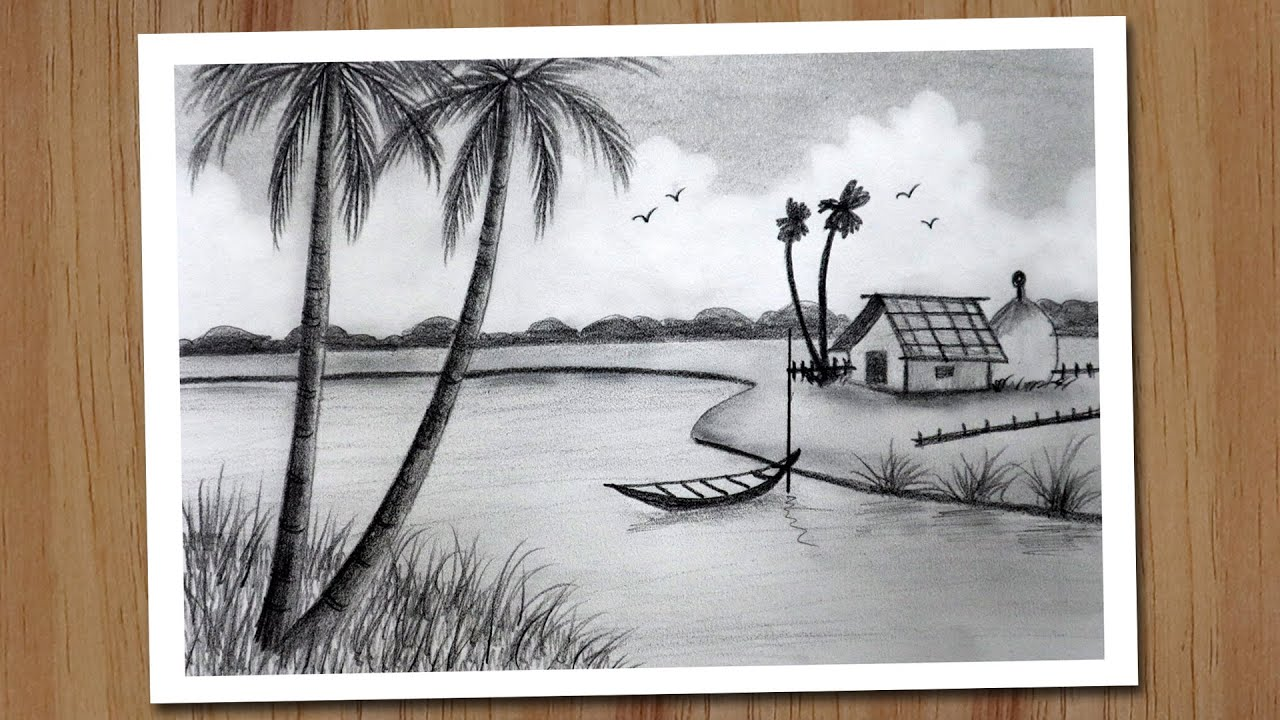 How To Draw Village Scenery With Pencil Step By Step Pencil Drawing For Beginners Youtube Riverside village scenery drawing with pencil, pencil drawing for beginners dear friends drawing | pencil sketch learn how to draw a landscape in pencil materials used: how to draw village scenery with pencil step by step pencil drawing for beginners