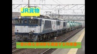 JR東海  〜雪の降る清洲駅を通過する列車達〜
