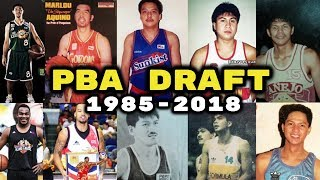 History of PBA Draft 1985 - 2018 | All First (1st)  Pick Overall in the PBA
