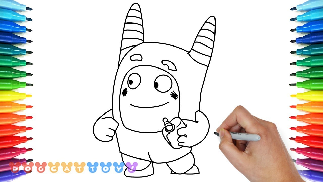 How to Draw Oddbods Drawing Coloring