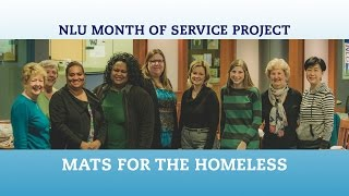 Repeat youtube video NLU Month of Service Project | Mats for the Homeless