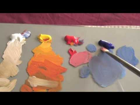 How To Mix & Match Color Tones - Acrylic & Oil Painting Lesson