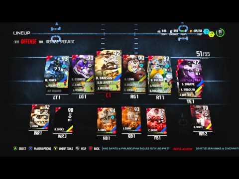 Madden NFL 16 - 92 OVR Steve Hutchinson - Legend Set Complete - MUT