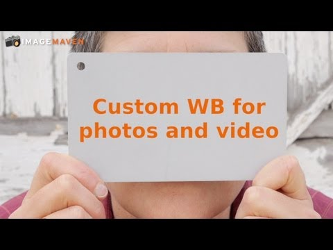 how to keep white balance on video