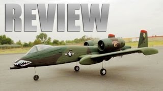 Newest Dynam A-10 Military EDF Remote Control Jet Review w/ Twin 64MM Ducted Fan Engine
