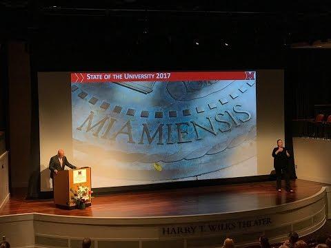 Miami University Annual Address 2017