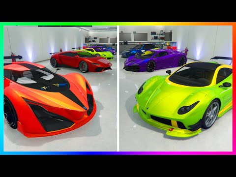 GTA Online ULTIMATE Garage Tour w/ 50 Cars Worth Over $30,000,000 In Total (NEW DLC Cars & MORE)