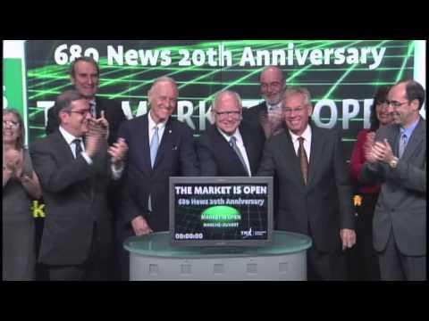 680 News opens Toronto Stock Exchange, June 6, 2013