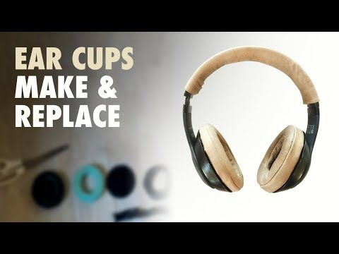 How to replace Beats Studio Ear Pads - DIY Leather Headphone Ear Cups