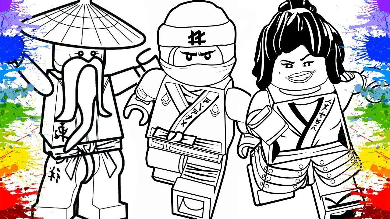 Pinturas Lego Ninjago Movie Lloyd Nya Desenhos Animados Brinquedos