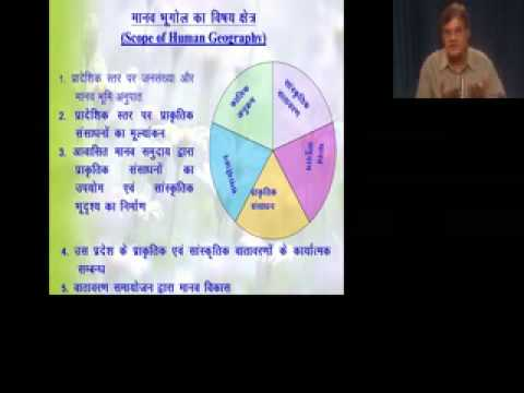 Geography UG B.A. Sem-II: Nature & Scope of Human Geography by Dr. R.P. Tiwari as on 23-03-15