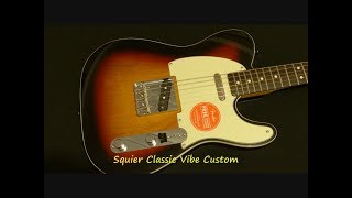 Squier (Fender) Classic Vibe Custom Telecaster Guitar Review (Made in China)