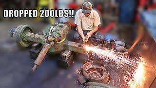 Cutting Up My 5 Ton Mega Truck Axles Already....