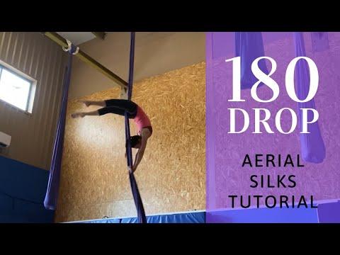 Aerial silks 180 drop tutorial   Caída de 180 grados telas aéreas