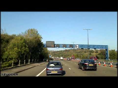 345 - United Kingdom. Wales. M4 - Newport [HD]