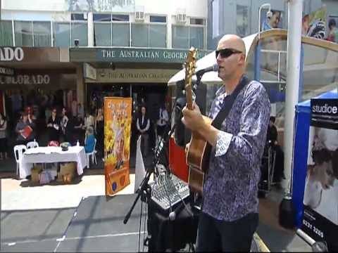 I`m on Fire acoustic live in the Hobart Mall- Jerome Hillier