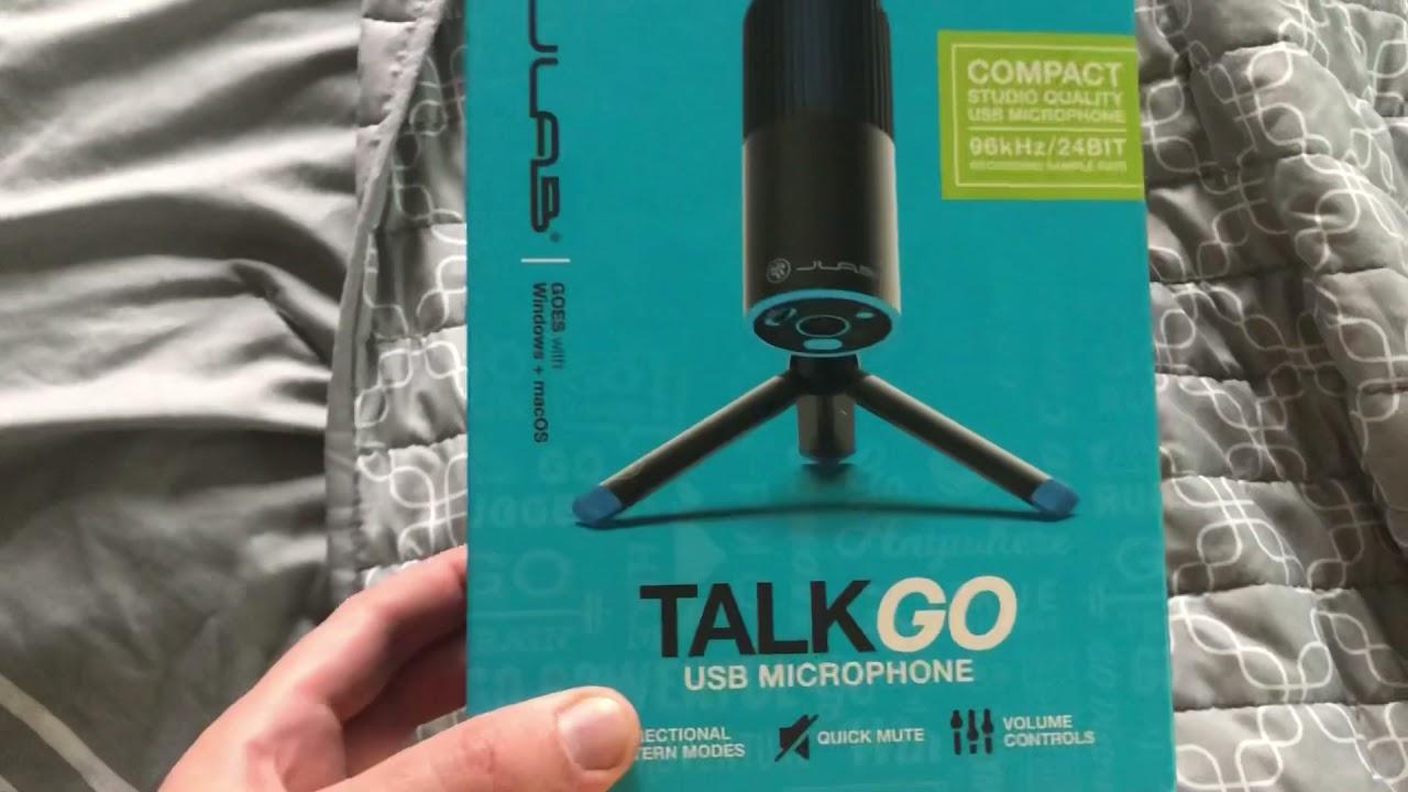 Jlab talk go usb microphone Unboxing