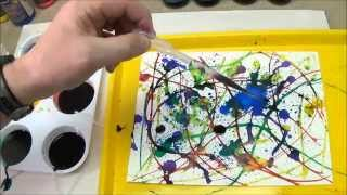 Jackson Pollock-Inspired Action Painting - Project #31