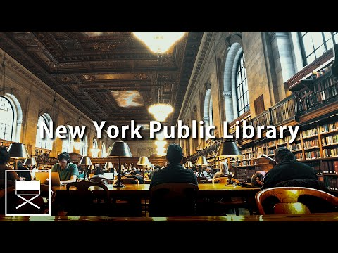 NYC Library Ambience ASMR - New York Public Library Study Session Sounds Before NYC Pandemic
