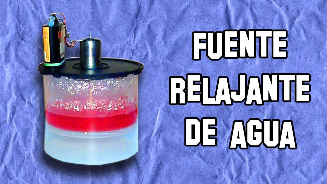 Fuente relajante de agua experimentos caseros - Motor de fuente de agua ...