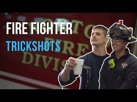 Card Throwing Trick Shots | Fire Department  | Rick Smith Jr.