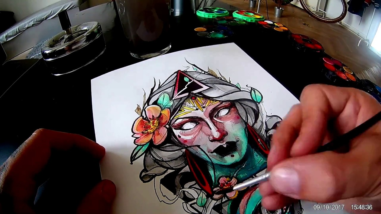 Pralestattoo Neotraditional Design Sketch Youtube