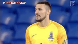 Kurioses Eigentor von Aserbaidschan führt zum 1:0 für Wales | DAZN