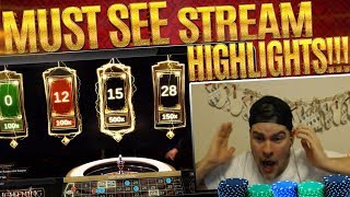 STREAM HIGHLIGHTS! INSANE LIGHTENING ROULETTE HIT + MORE!