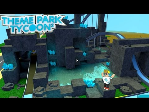Roblox / Crystal Caves Water Adventure Ride! / Theme Park Tycoon 2 / Gamer Chad Plays