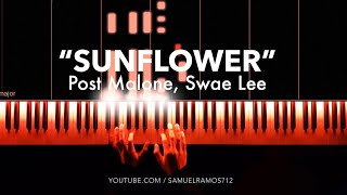 Sunflower - Post Malone, Swae Lee (Piano Cover)