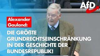 Alexander Gauland zum drohenden Totalitarismus mit Infektionsschutztarnung