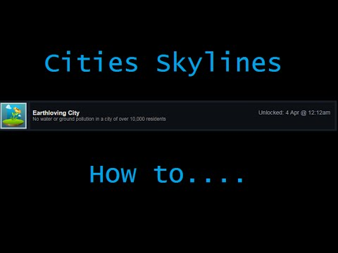 Cleaning Pollution in Cities Skylines - City grows while pollution goes to almost zero. No Mods!