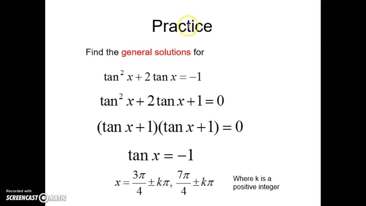 Using Idenies To Solve Trig Equations