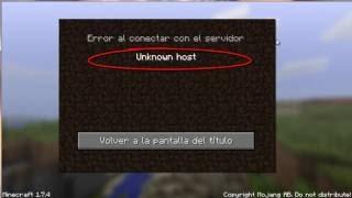 Unknown Host Error Al Conectar Con El Servidor(SOLUCION)