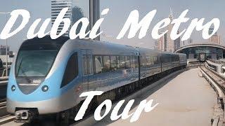 Tour of the Dubai Metro - lines and principle stations