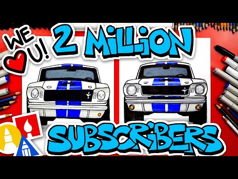 ❤️ 2 Million ❤️ We Love You ❤️ How To Draw A 65 Mustang GT350
