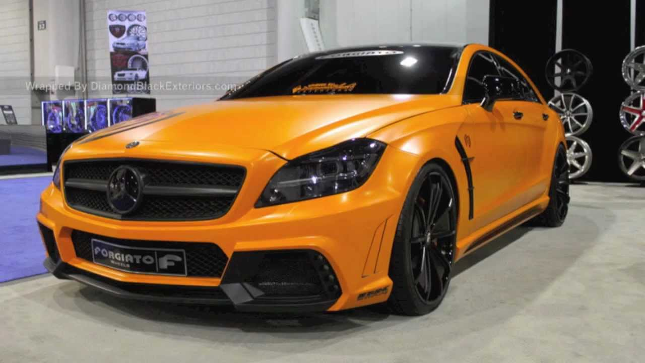 2012 Mercedes Benz Cls550 Wald Black Bison Wrapped In Satin Orange By Dbx Sema 2011 Youtube