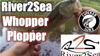 Топуотер бас Риболовля-River2Sea Ваппер Plopper якості HD