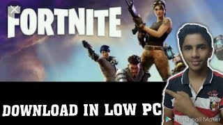 How to play fortnite in low end pc - download FORTNITE in pc(Hindi)-technom gaming