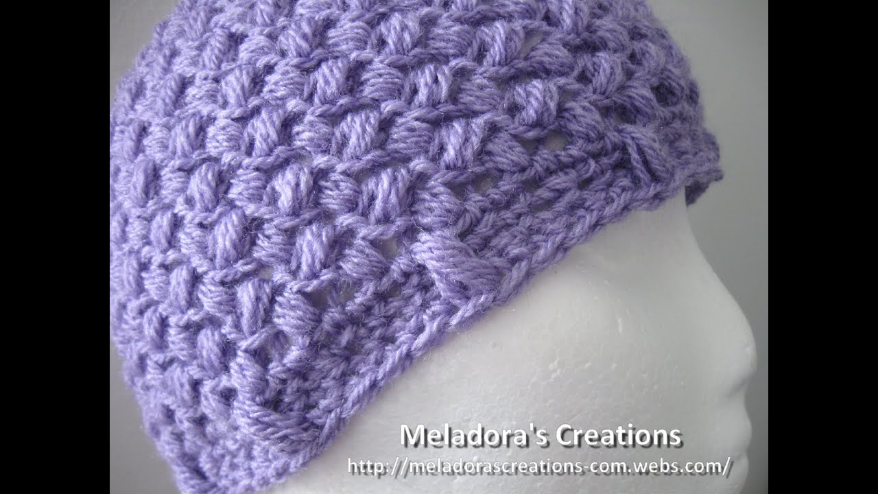 ef78e722d7a Bean Stitch Beanie - Crochet Tutorial - Baby - Adult sizes - YouTube