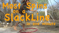 Most Spins Balancing on a Slackline in 1 min  *World Record*