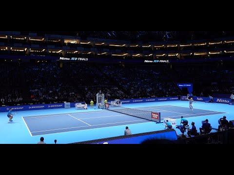 Dominic Thiem vs Novak Djokovic - Nitto ATP Finals London 2019 - Court Level Match Highlights