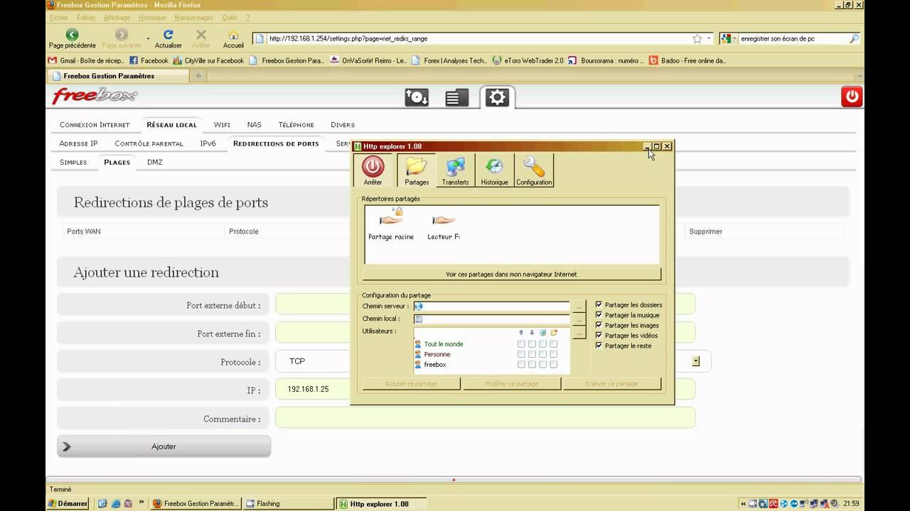 Freebox v6 partage du disque dur depuis l 39 exterieur youtube for Disque dur exterieur