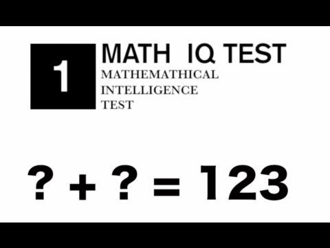 123 math iq test 1 youtube. Black Bedroom Furniture Sets. Home Design Ideas